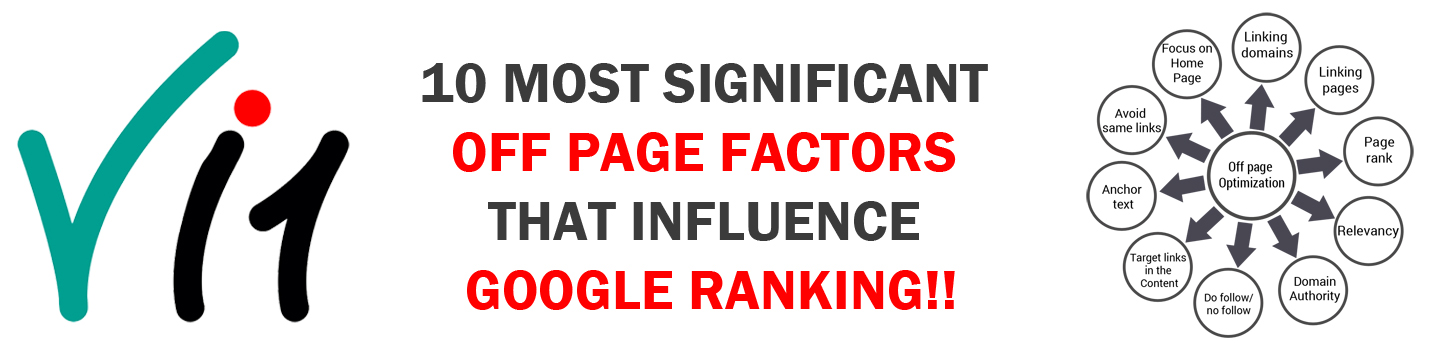 10 Most significant Off Page factors that influence Google ranking