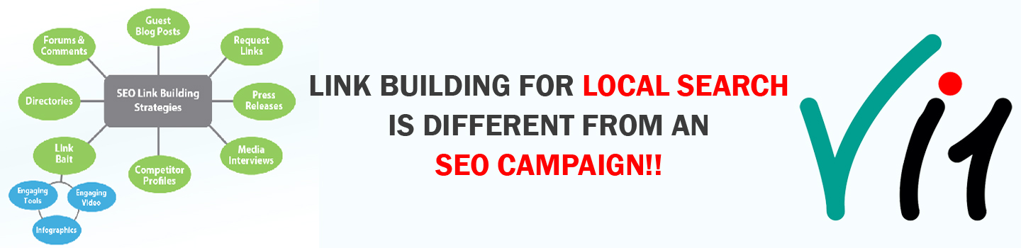 Link building for local search is different from an SEO campaign