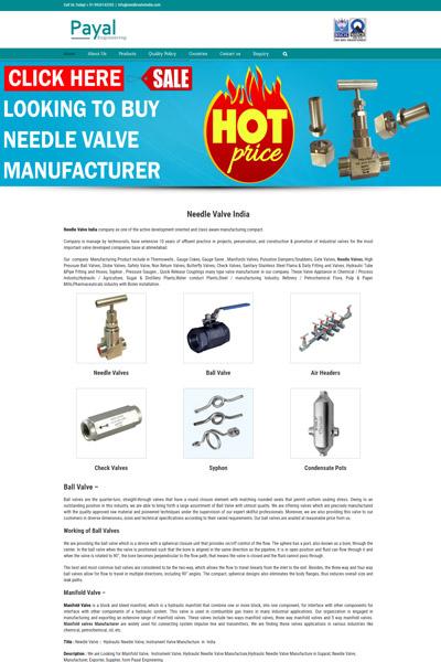 Needle Valve India