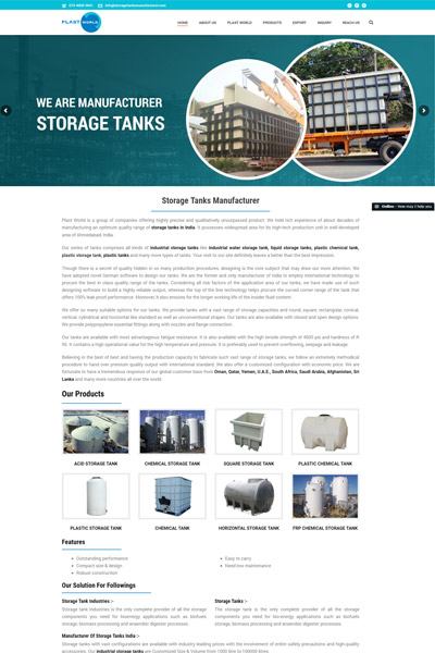 Storage Tanks Manufacturer