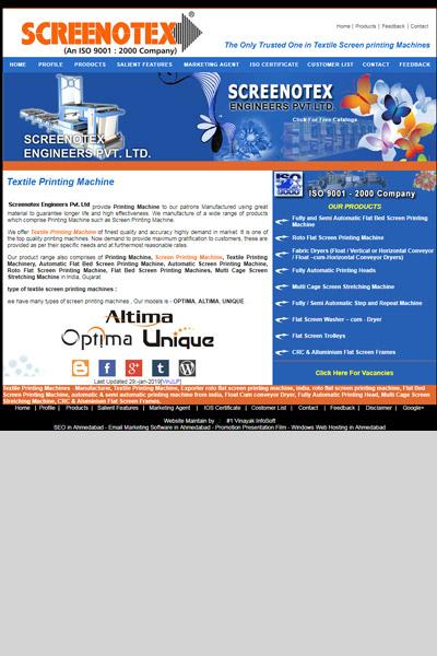 Company Portfolio | SEO and Website Design | Textile Industry| vi1 in