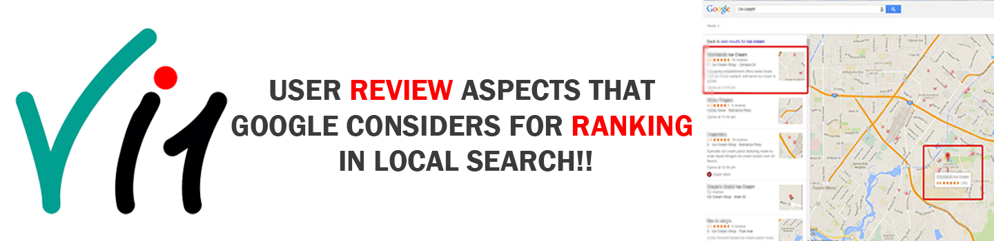 User review aspects that Google considers for ranking in Local search!!
