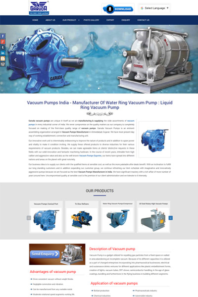 Vacuum Pumps India