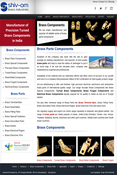 Brass Parts Components
