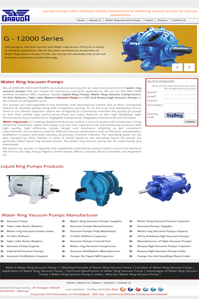 Waterring Vacuum Pumps